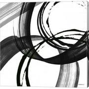 Metaverse C911079-0120000-AAAACMA Black & White Pop II by Dan Meneely Canvas Wall Art - 12 x 12 in.