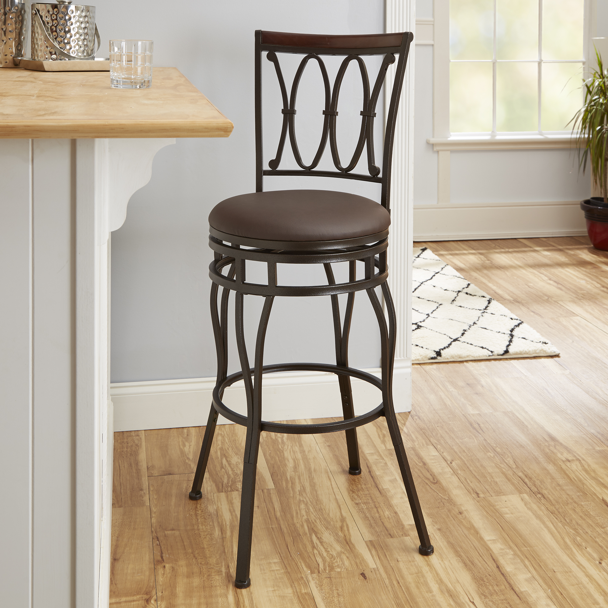 Better Homes and Gardens Adjustable Barstool, Oil Rubbed Bronze