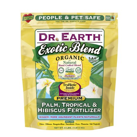 Dr. Earth Organic & Natural Exotic Blend Palm, Tropical & Hibiscus Fertilizer, 4 (Best Fertilizer For Tropical Plants)