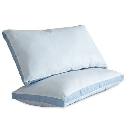 Ultrasoft Quilted Sidewall Bed Pillows, Firm, Set of (French Quilted Pillow)
