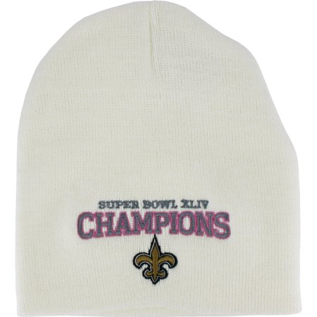 New Orleans Saints Ladies White Super Bowl Xliv Champions Knit Beanie
