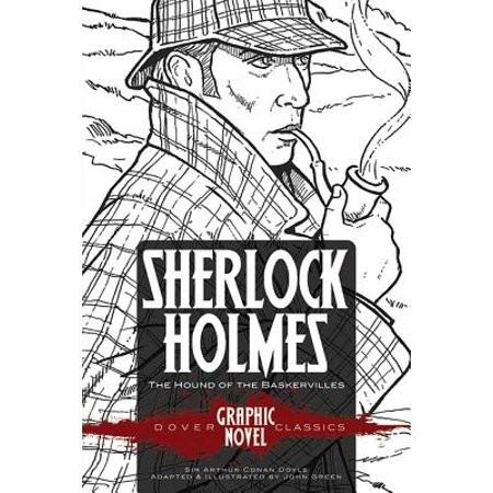 Sherlock Holmes the Hound of the Baskervilles (Dover Graphic Novel Classics) - Halloween Graphic Novel