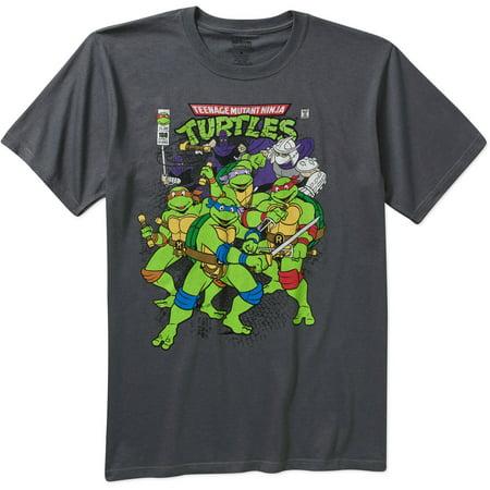 Teenage Mutant Ninja Turtles Men's Graphic Short Sleeve T-shirt (Ninja Turtles Clothing Size 8)
