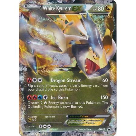 Pokemon Black & White Promo Single Card Rare Holo EX White Kyurem EX BW63