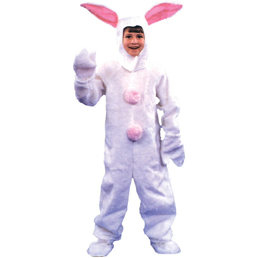 White Bunny Suit Boy's Child Halloween Costume, One Size, 6-8