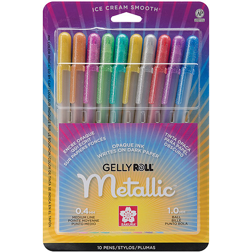 Sakura Metallic Gelly Roll Medium Point Pen, 10/pkg