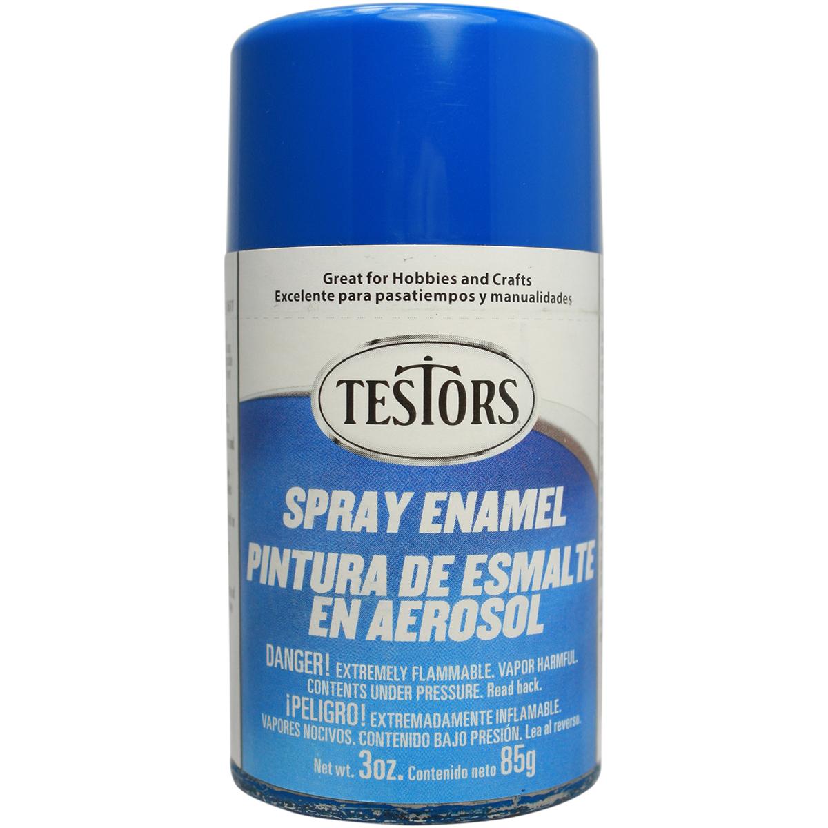 Testors Spray Enamel 3oz - Gloss Bright Blue
