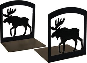 BE-19 Moose Bookends by Village Wrought Iron