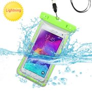 Premium Waterproof Sports Swimming Waterproof Water Resistant Lightning Carrying Case Bag Pouch for Nokia Lumia 735, Lumia 830, 929 (Lumia Icon), Lumia 925, Lumia 900, Lumia 635 (with Lanyard) (Green)