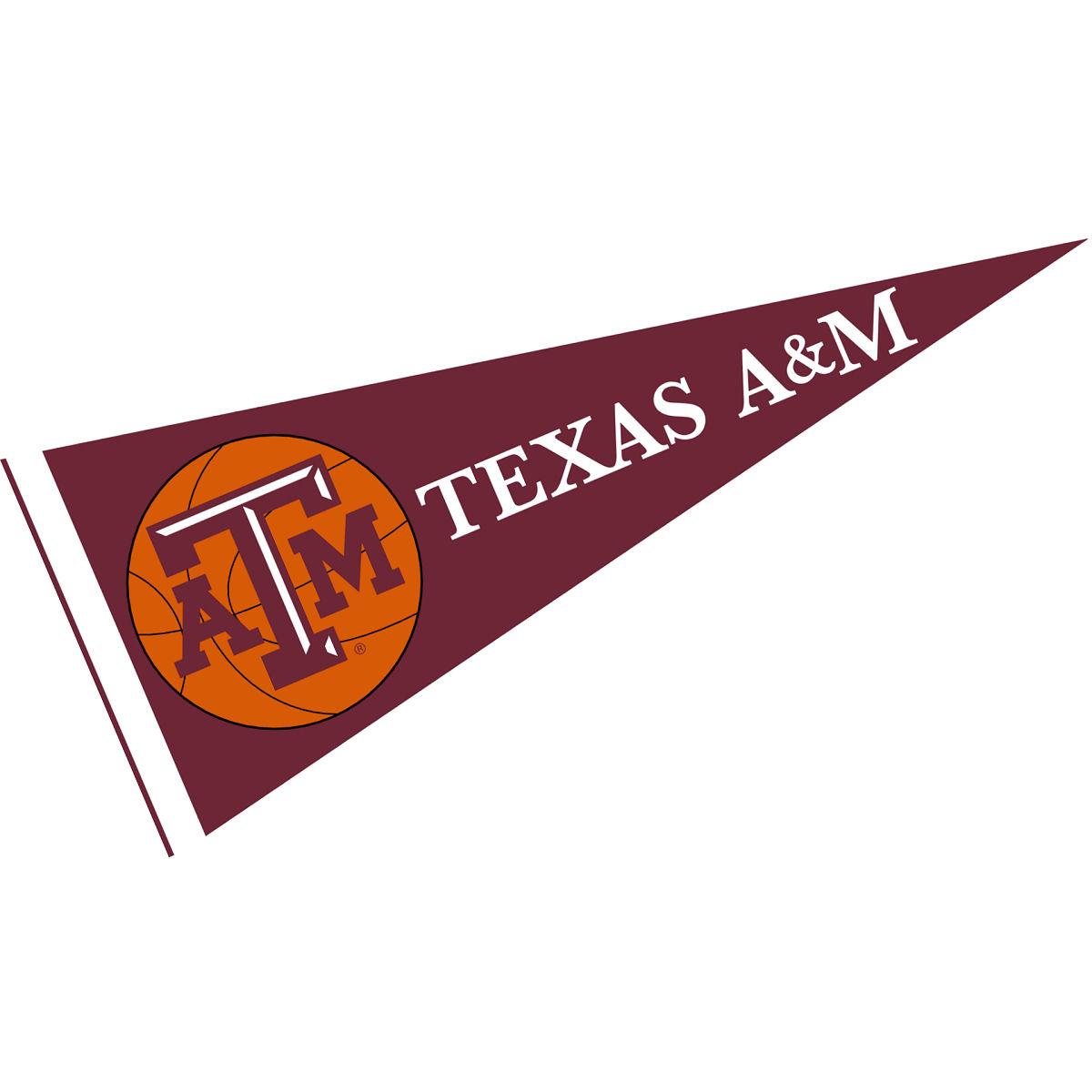 """Texas A&M Aggies Basketball 12"""" X 30"""" Felt College Pennant"""
