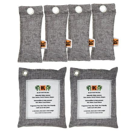 Natural Moso Bamboo Charcoal Air Purifying Bag - Smoke Odor Neutralizer