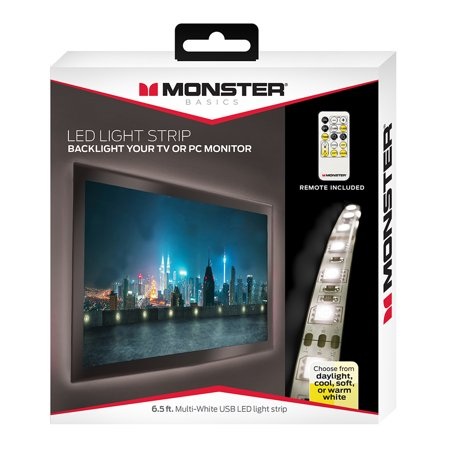 Monster Multi-White USB LED Light Strip - 6.5ft
