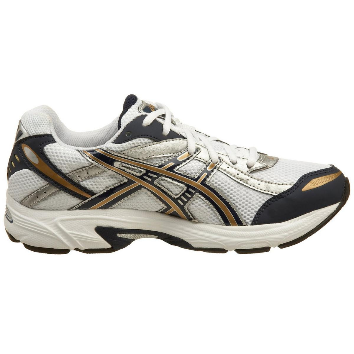 Asics Gel-Kanbarra 4 Men's White/Navy/Gold Running Sneakers 14M