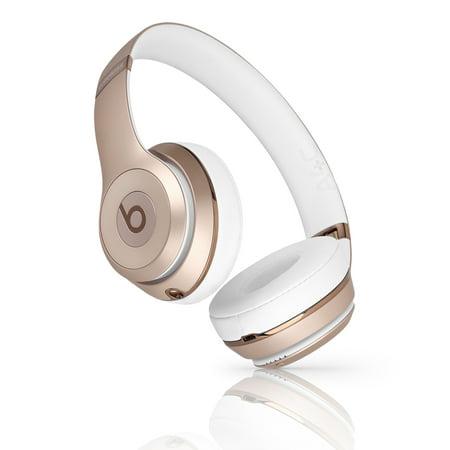(Refurbished) Beats Solo 3 Wireless On-Ear Headphone - A1796 (MNER2LL/A) Gold (Beats Solo Headphones Wireless)
