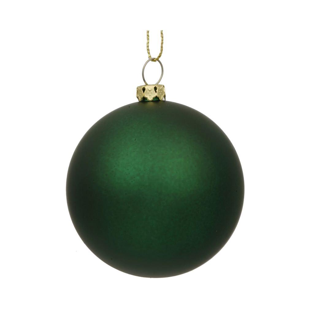 Vickerman 10 in. Emerald Green Matte Ball