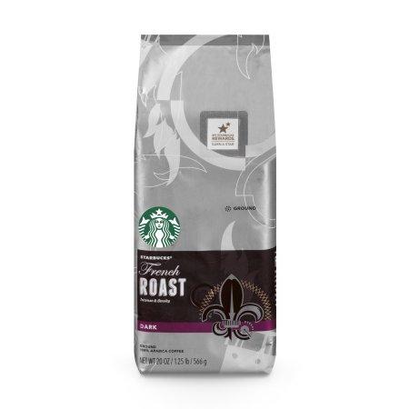 (2 Pack) Starbucks French Roast Dark Roast Ground Coffee, 20-Ounce Bag (Starbucks Outfit)
