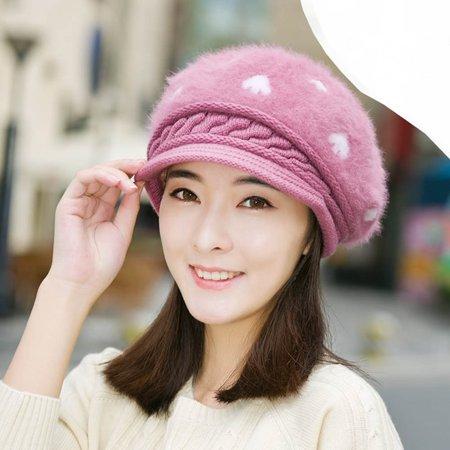 002bac8421d DZT1968 Women Beret Winter Warm Baggy Beanie Knit Crochet Hat Slouch Ski Cap