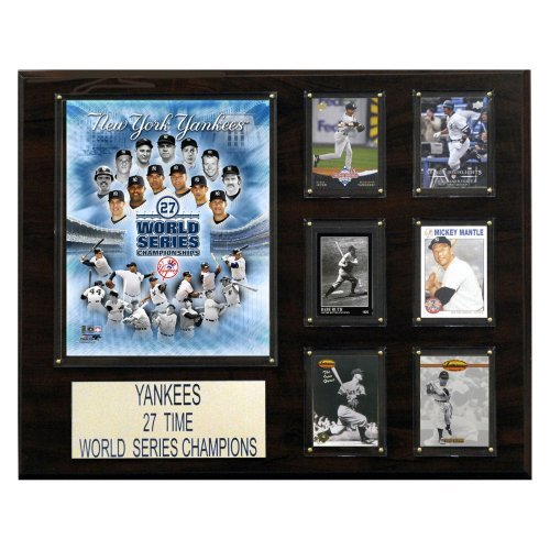 MLB 16 x 20 in. New York Yankees 27 Time Champions Plaque