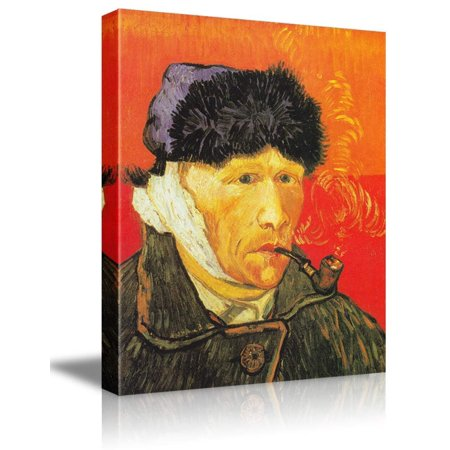 Self Portrait With Bandaged Ear by Van Gogh Giclee Canvas Prints Wrapped Gall...