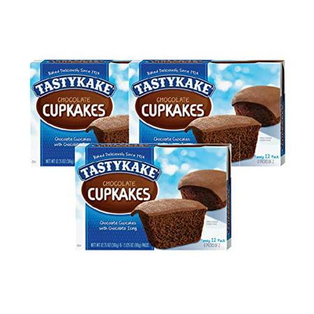 Tastykake Cupkakes in Your Choice of Four Varieties Family Size 12 Pack- A Philadelphia Baking Institution (Chocolate, 3 (Best Chocolate In Philadelphia)