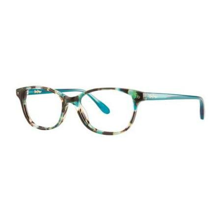 eb7bfa79bb LILLY PULITZER Eyeglasses BRYNN Aqua Tortoise 51MM - Walmart.com