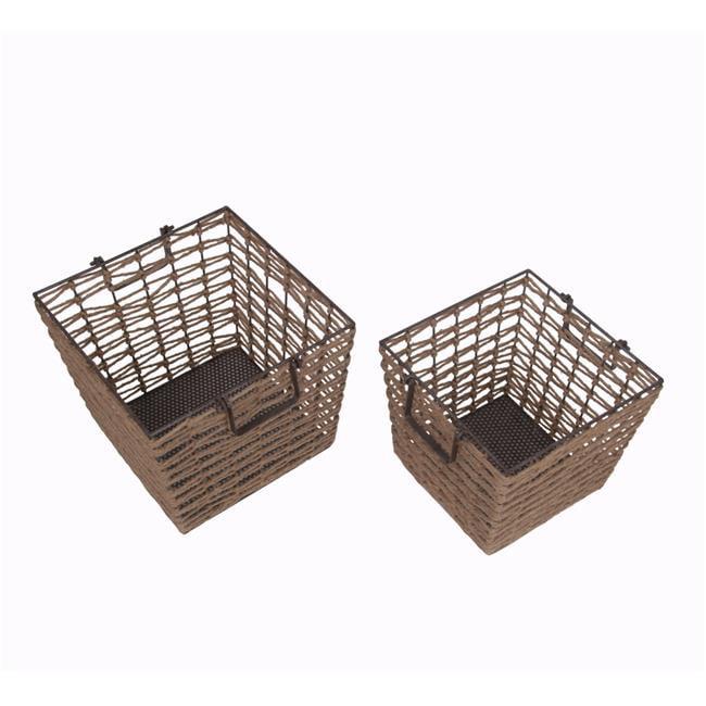 Privilege International 18628 2-Piece Square Baskets Set