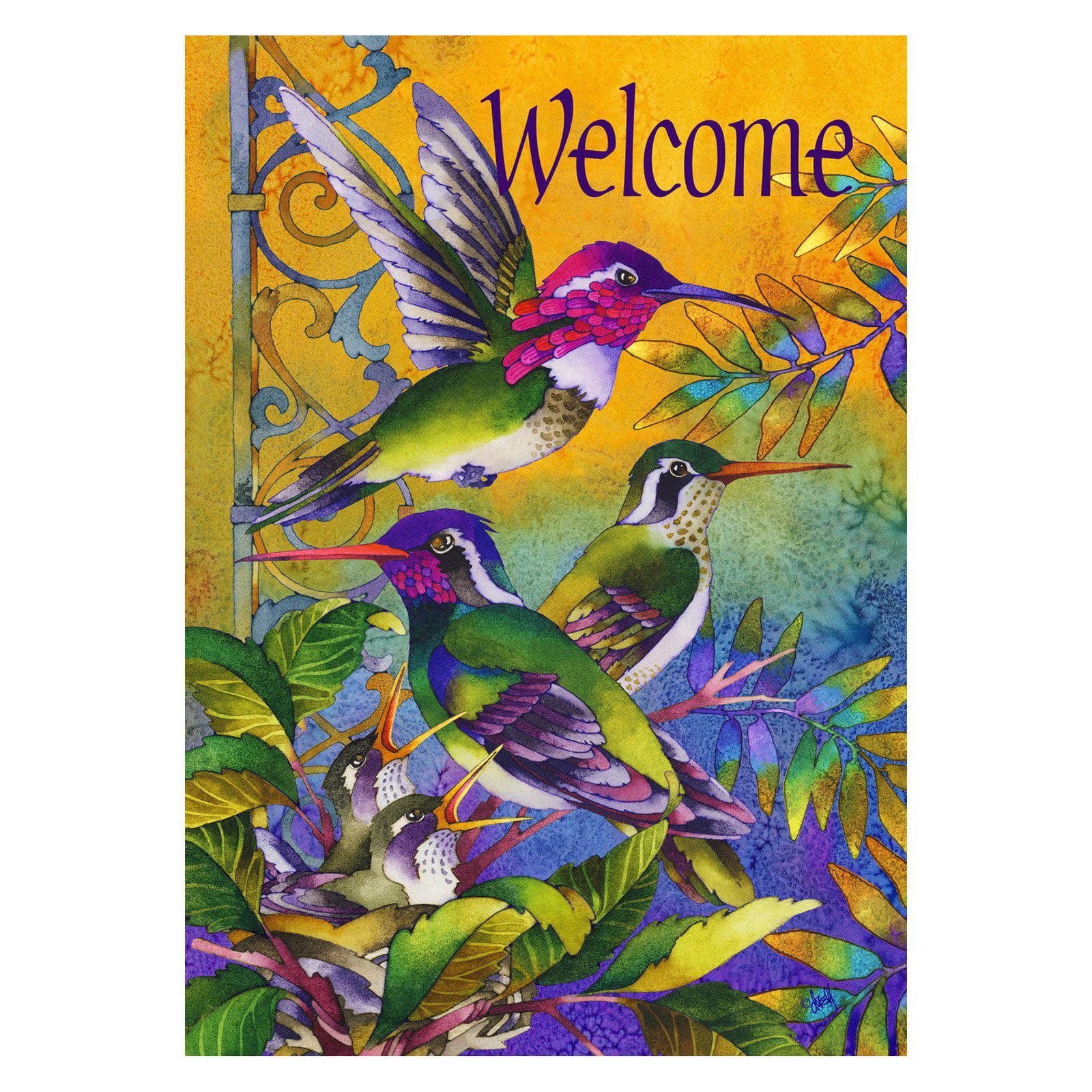 Toland Home Garden Hummingbird Home Flag