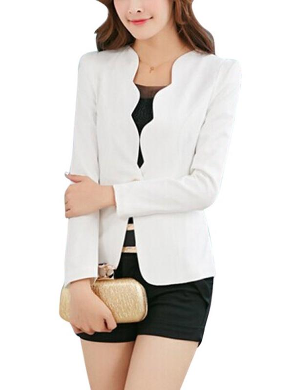 EFINNY Women's Formal Coat One Button Business Blazer Suit