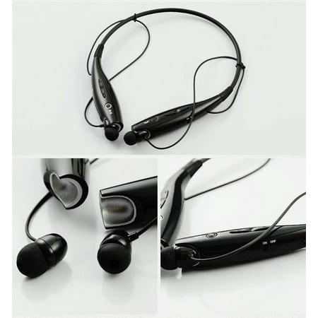 Handsfree Bluetooth Headset Wireless Sports Stereo Headphone Waterproof Earphones For iPhone Samsung White - image 2 of 8