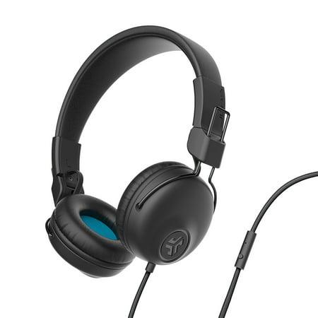 JLab Audio Studio Wired On-Ear Headphones - Black