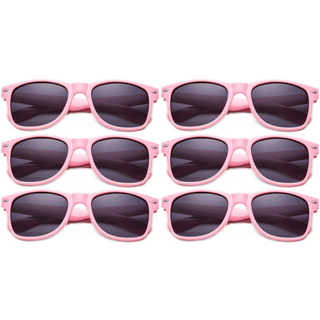3fddc2f7 Newbee - Sunglasses Wholesale Party Pack-6 Retro Blues Brothers Sunglasses  for Weddings Parties Graduations Birthdays Party Favors Sunglasses Pink ...