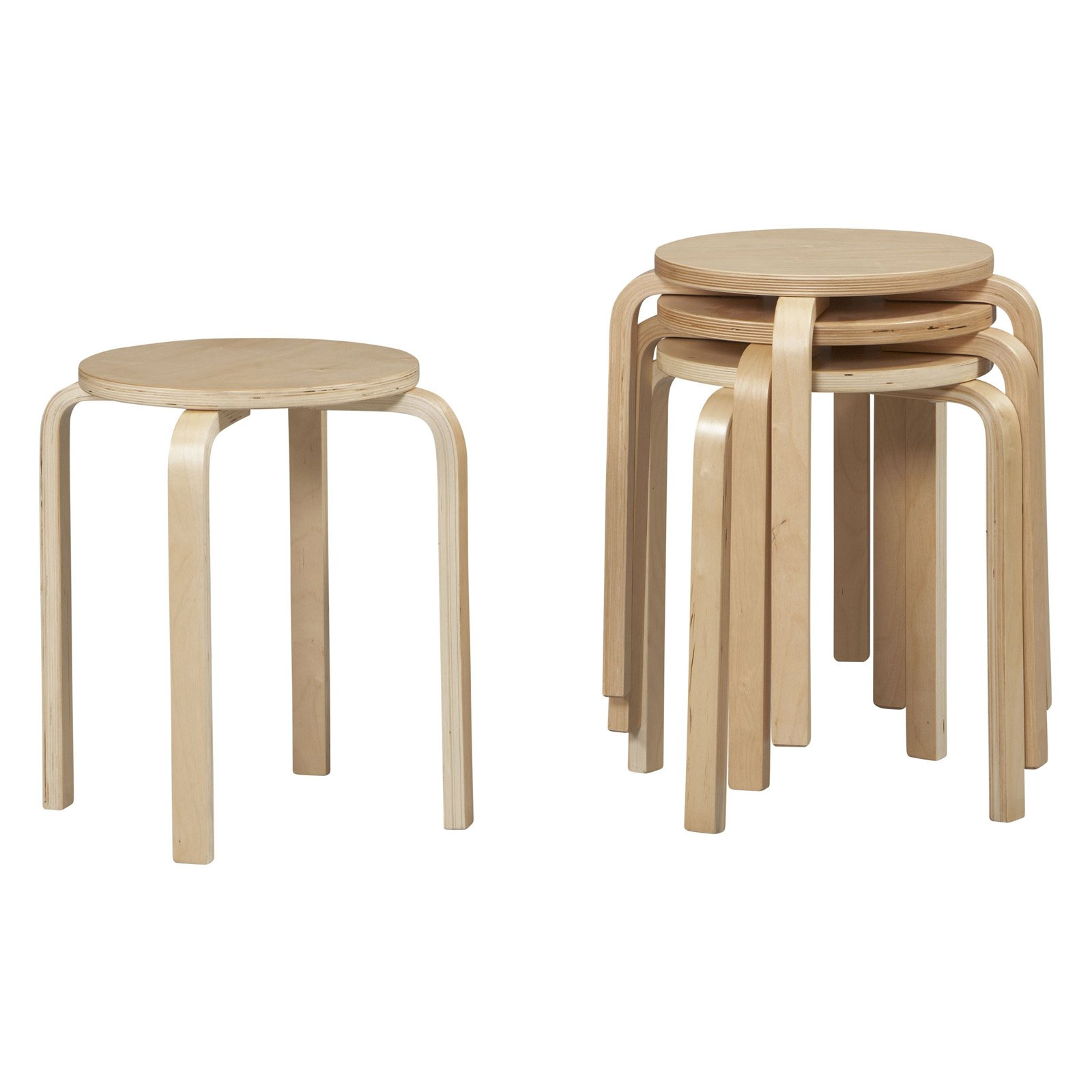 Linon Bentwood Stools Set of 4 Natural Finish 17 inch Seat Height  sc 1 st  Walmart & Linon Bentwood Stools Set of 4 Natural Finish 17 inch Seat ... islam-shia.org