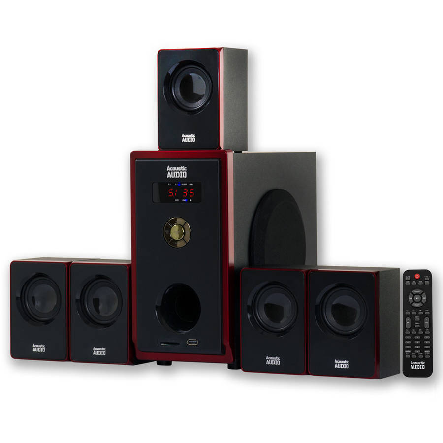 Acoustic Audio AA5103 5.1 Channel Home Theater Surround Sound Speaker System by Acoustic Audio