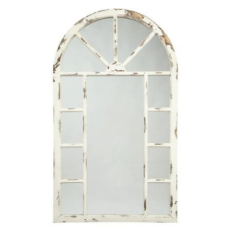 Signature Design by Ashley Divakar Distressed Windowpane Design Wall Mirror - 30W x 52H in.