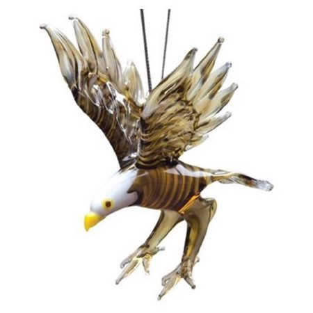 Glassdelights Bald Eagle Bird Glass Christmas Tree Ornament Decoration New