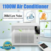 950W AC110V Remote Control Window-Mounted Compact Air Conditioner with Cooling / Heat + 24-hour Timing Dehumidification, LED Control Panel