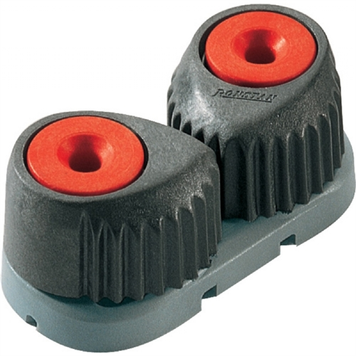 """Ronstan T-Cleat Cam Cleat - Small - Red with Grey Base - 2-8mm (3/32"""" - 5/16"""") Rope Diameter RF5001"""