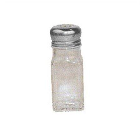 Winco G-109, 2-Ounce Square Glass Shaker With Mushroom Top, Seasoning Salt Pepper Shakers, 1 Dozen Square Salt Shaker