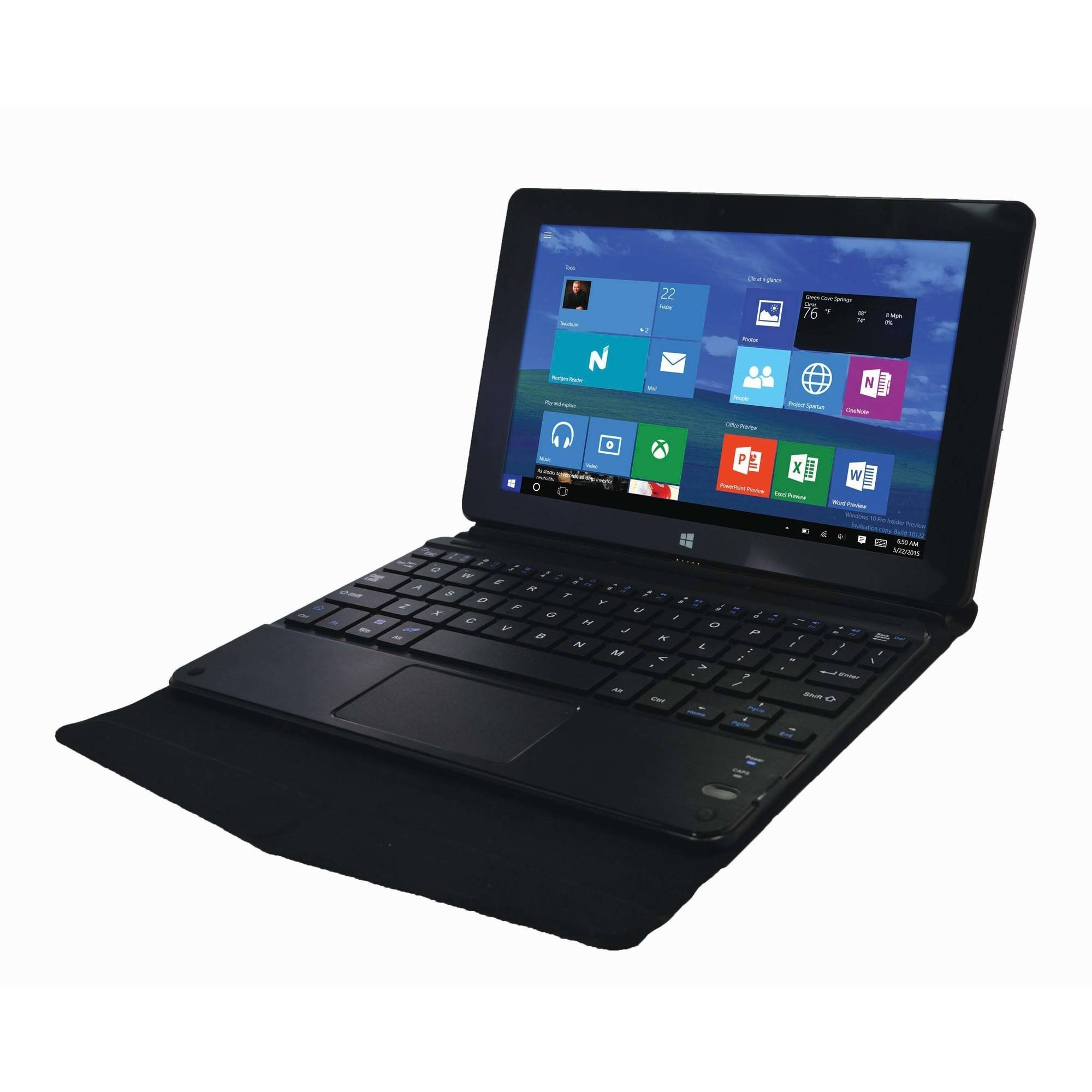 """Proscan PLT8990-K with WiFi 8.95"""" Touchscreen Tablet PC Featuring Windows 10 Operating System, Black"""