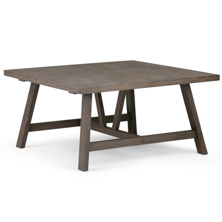 Brooklyn + Max Everly Solid Wood 36 inch Wide Square Modern Industrial Coffee Table in