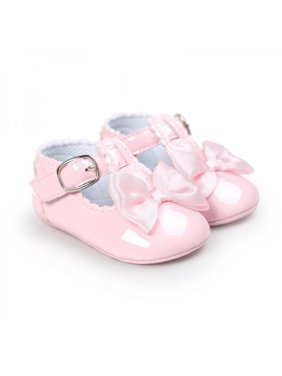 Infant Toddler Baby Soft Sole Bowknot Anti-slip Prewalker Shoes