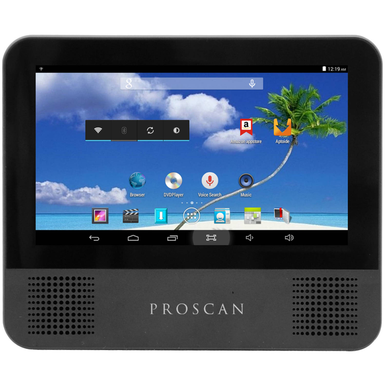 "Proscan with WiFi 7"" Touchscreen Tablet PC Featuring Android 4.4 (KitKat) Operating System, Black"