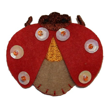 ID 0409 Ladybug Wings Flying Patch Insect Craft Embroidered Iron On Applique - Insect Crafts