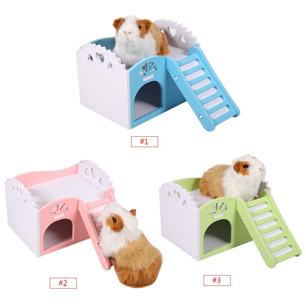 Dilwe 3 Colors Pet Hamster Rat Small Animal Castle Sleeping House Nest Exercise Toy, Hamster House, Guinea Pig House