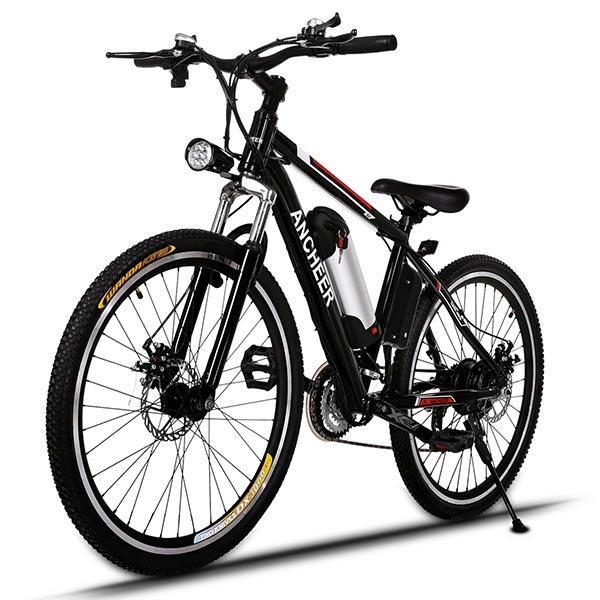 Power Plus Electric Mountain Bike Bicycle with Removable Lithium-Ion Battery, Battery Charger 25 inch Wheel WSY by