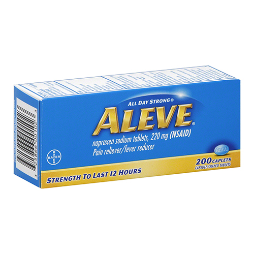 Aleve All Day Strong Pain Reliever, Fever Reducer Caplets - 200 Each