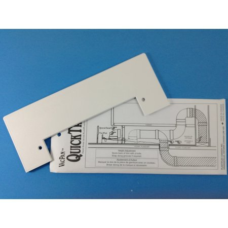 VacPan Trim Plate for Central Vacuum Systems WHITE. A Dustpan to your Built in - Airvac Central System Vacuums
