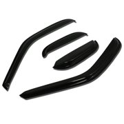 For 1997 to 1999 Ford F-150 / Heritage / F-250 Extended Cab 4pcs Window Vent Visor Deflector Rain Guard (Dark Smoke) 98