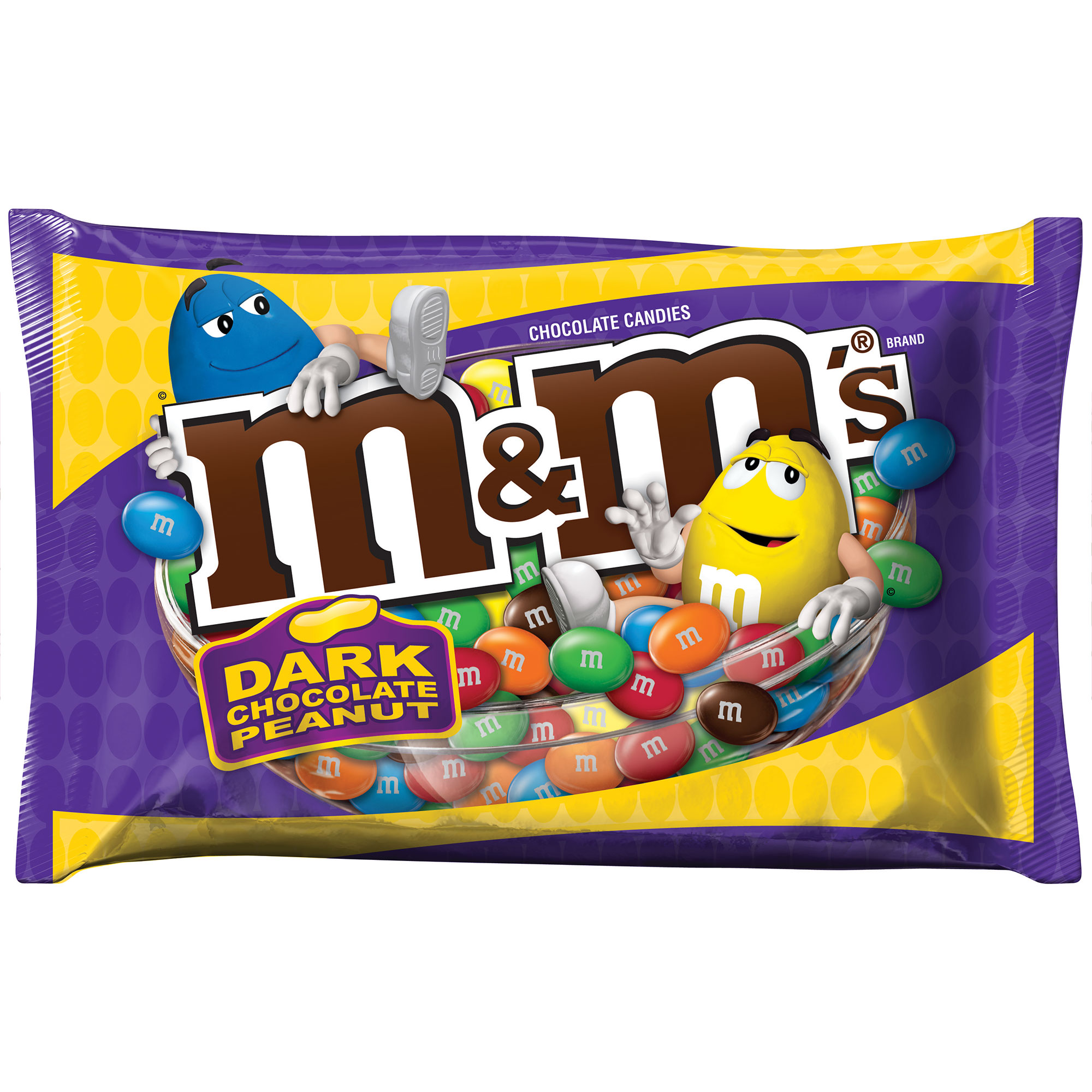 M&M'S Dark Chocolate Peanut Candy Bag, 19.2 oz