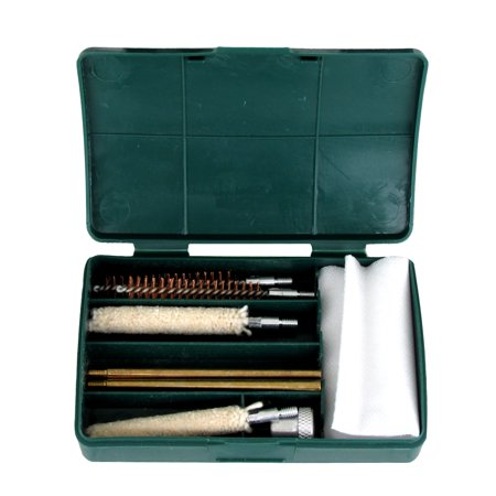 .357 .38 9mm Pistol Hand Gun Cleaning Kit 8 Brushes Brass Rods Cleaner Brush